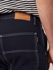 Denim Pants With Topstitching : Pants & Jeans color Midnight Blue Denim