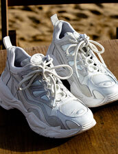 Astro Sneakers With Graphic Soles : Shoes color white