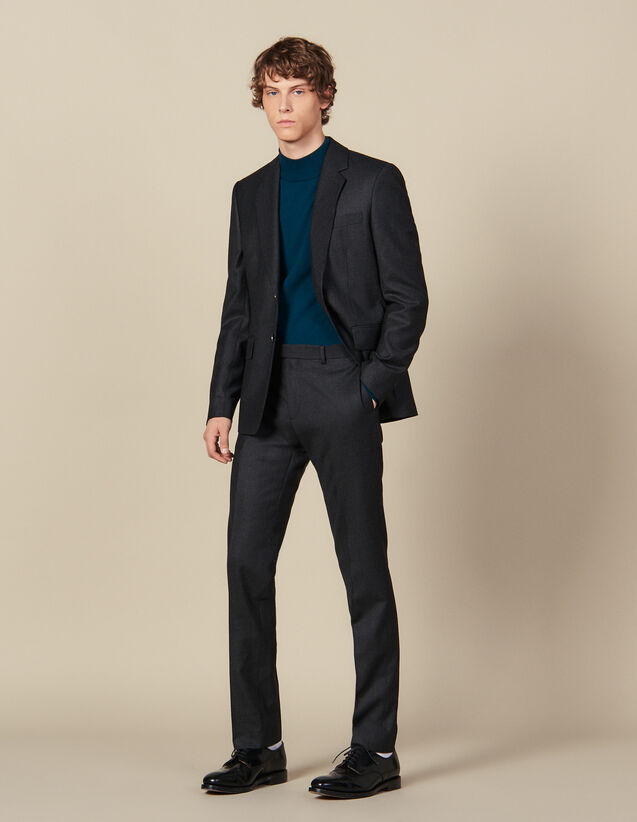 Wool Suit Pants : Suits & Blazers color Charcoal Grey
