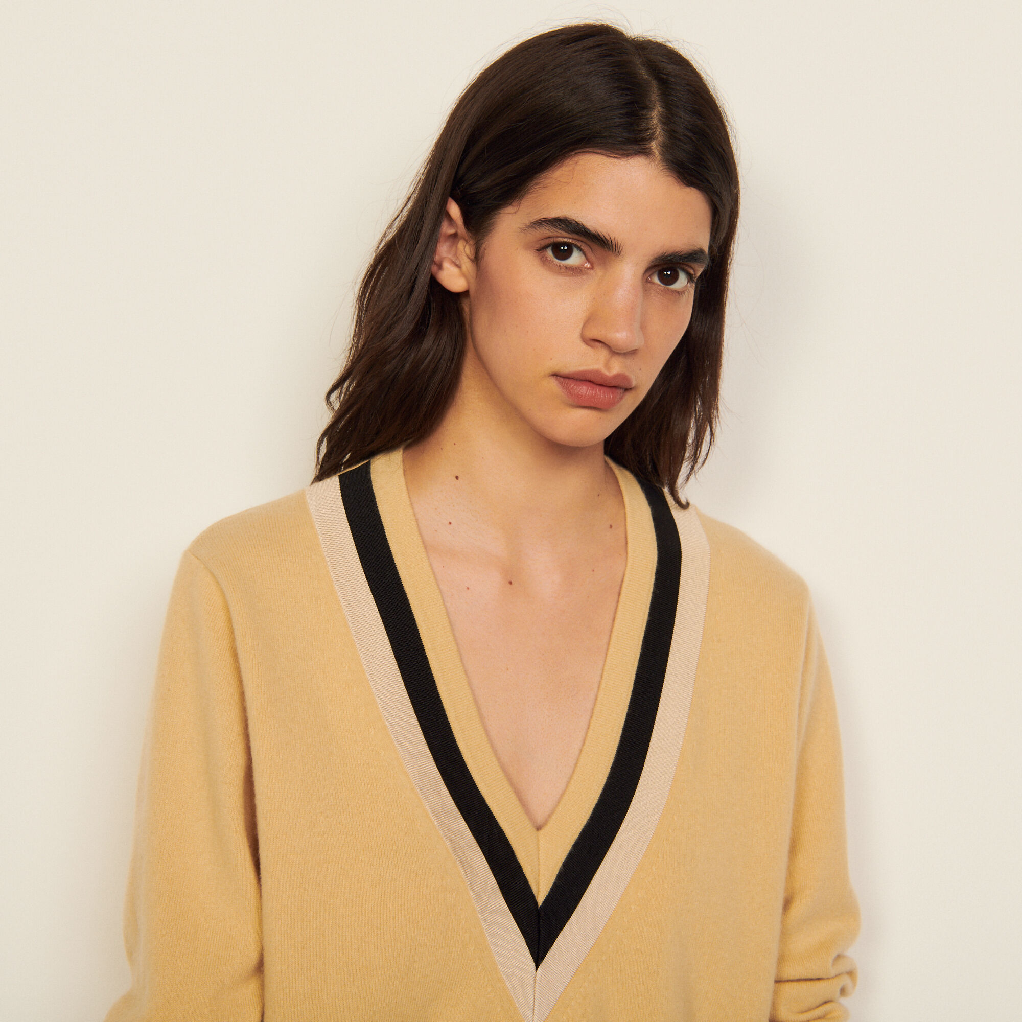 Sandro V-neck wool sweater