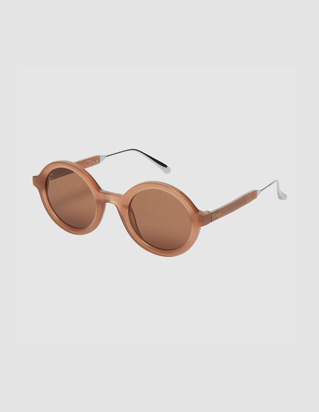 Round Sunglasses : Sunglasses color Ecaille graphique