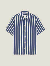 Short-Sleeved Shirt With Stripes : Shirts color Red