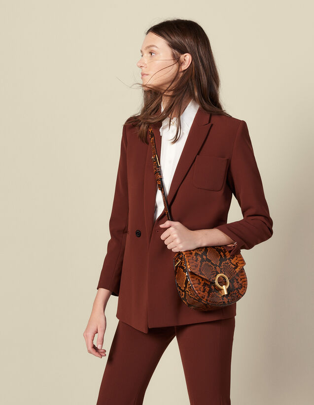 Double-breasted suit jacket : Jackets color Tobacco Brown