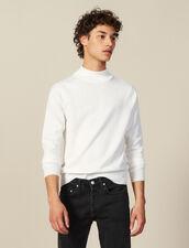 Funnel neck sweater : Sweaters & Cardigans color Ecru