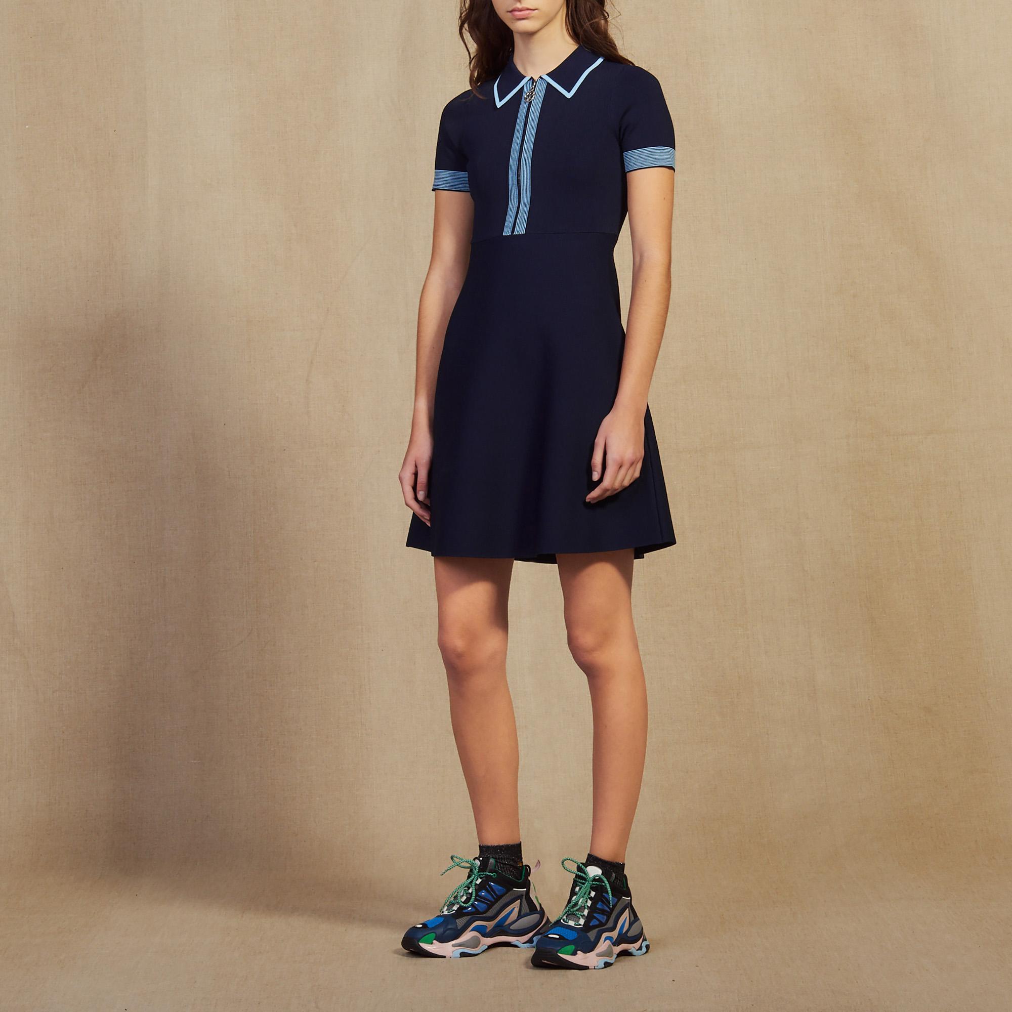07ad893ea Knit Polo Dress   Dresses color Navy Blue ...