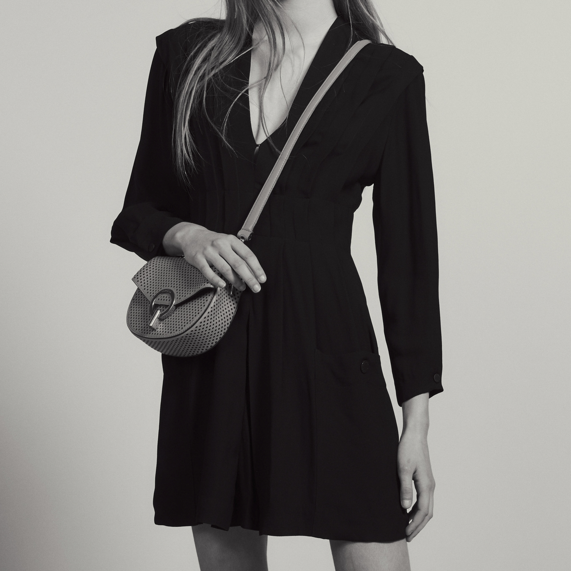b2ea19accfab Short Flowing Dress With Pleats : Dresses color Black ...