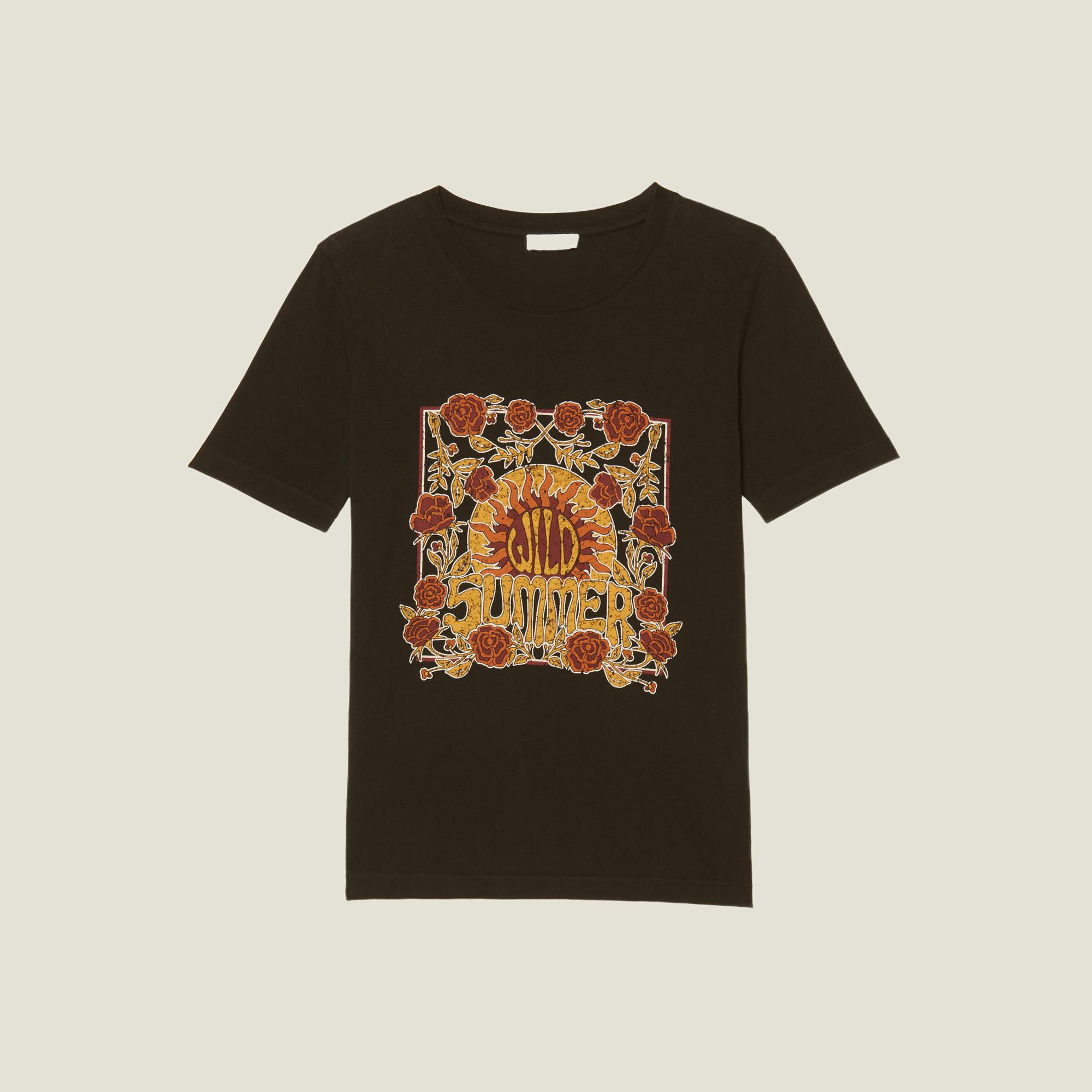 8b96484ce ... T-Shirt With Block Motif : Tops & Shirts color Black