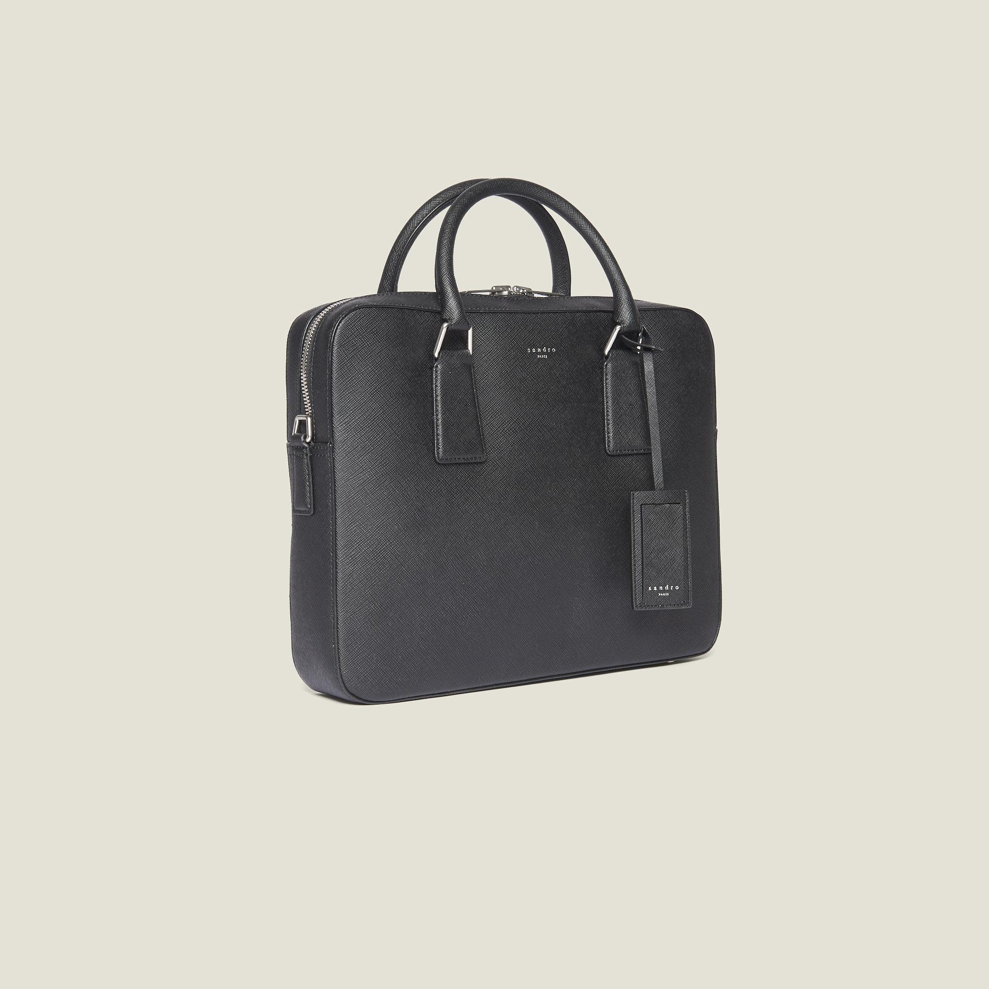 Saffiano Leather Briefcase Bags Sandro Paris