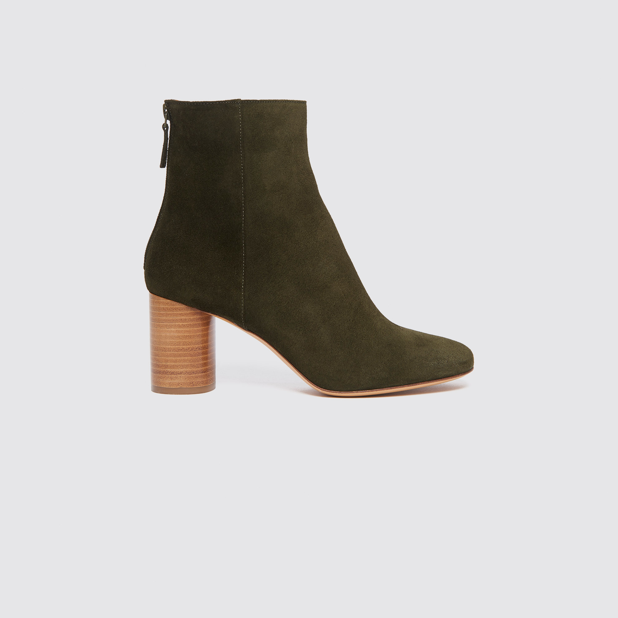 91c49cc5ff000 Suede ankle boots   Shoes color Olive Green ...