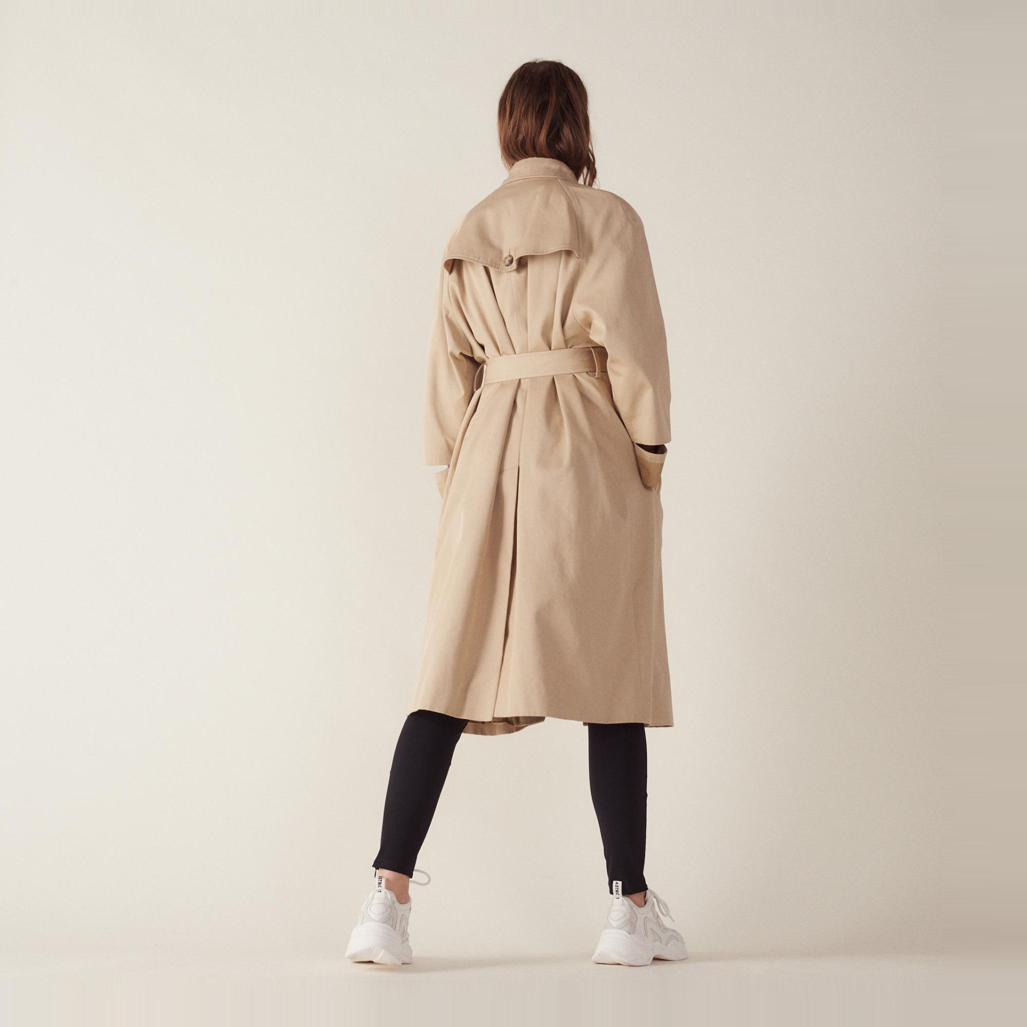 0d7ed8d0abd Long Trench-Style Coat   Coats color Beige ...