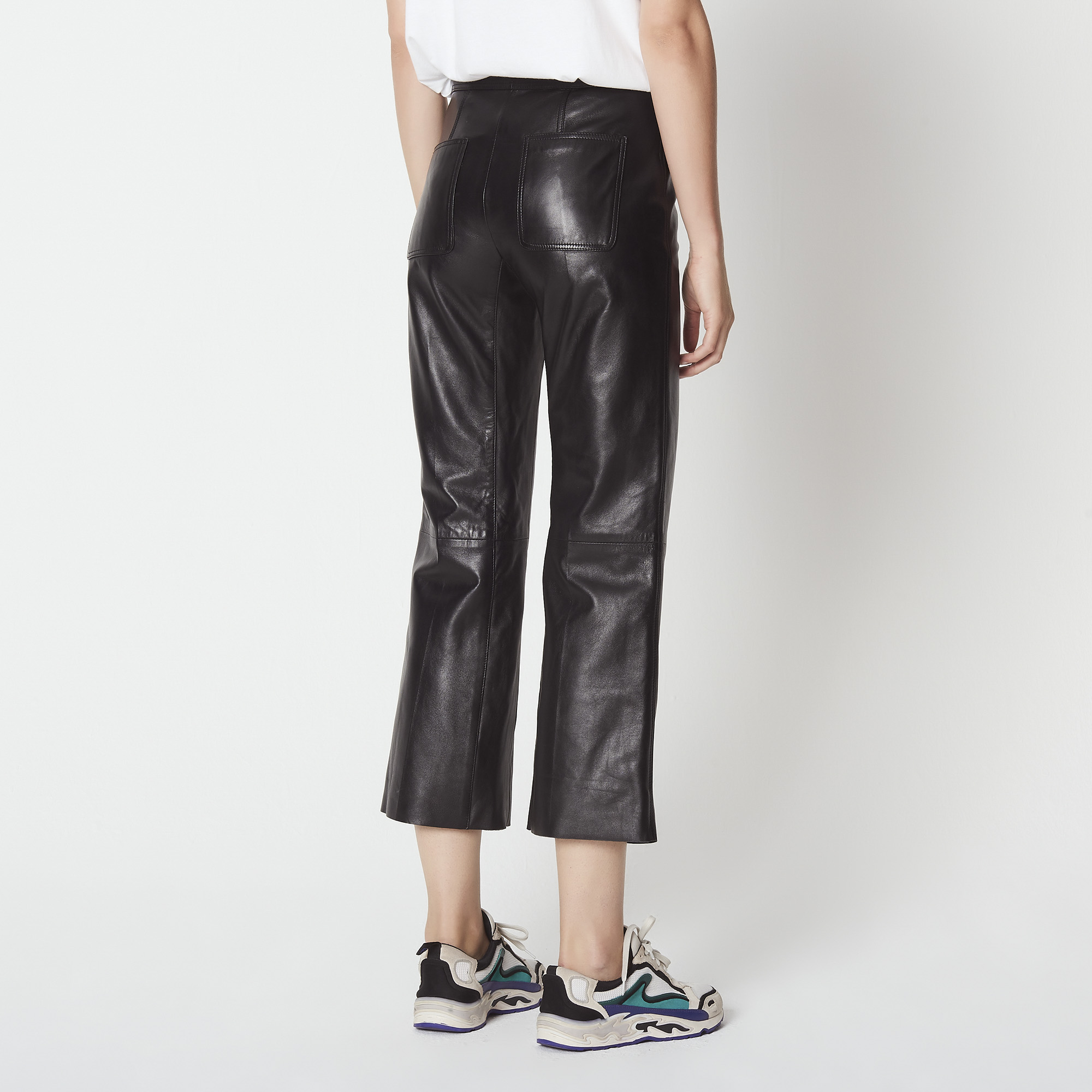 f71d07aa09 ... Leather trousers : Pants & Shorts color Black ...