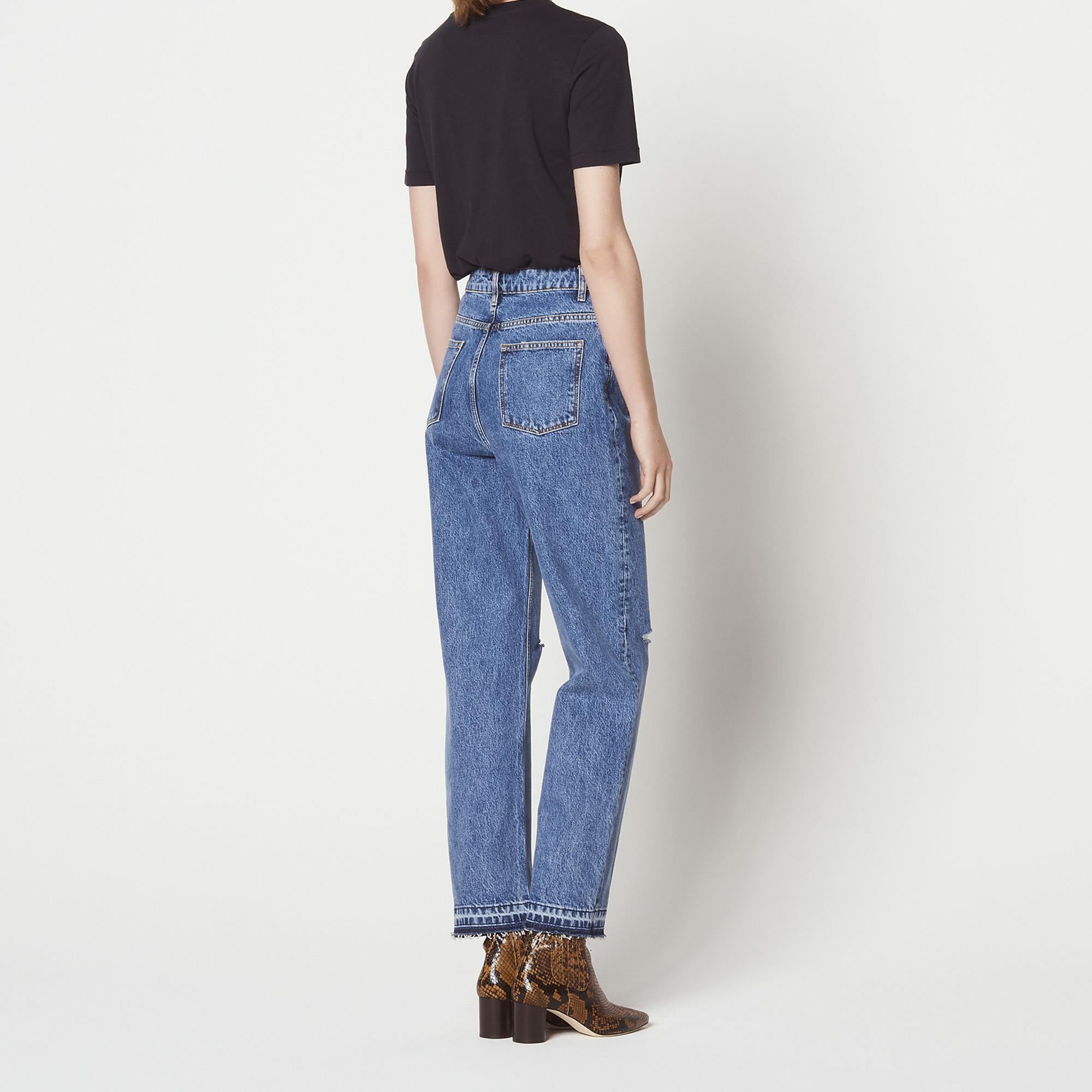 straight cut high waisted jeans jeans sandro paris