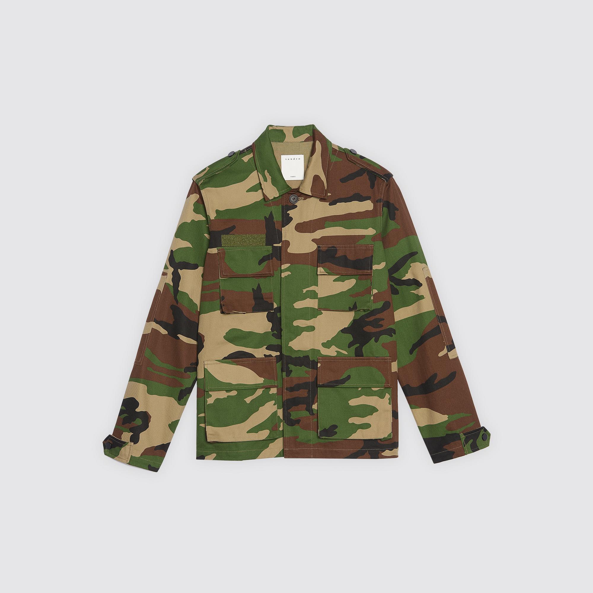 7f164514 ... Camouflage print jacket : Coats & Jackets color Olive Green