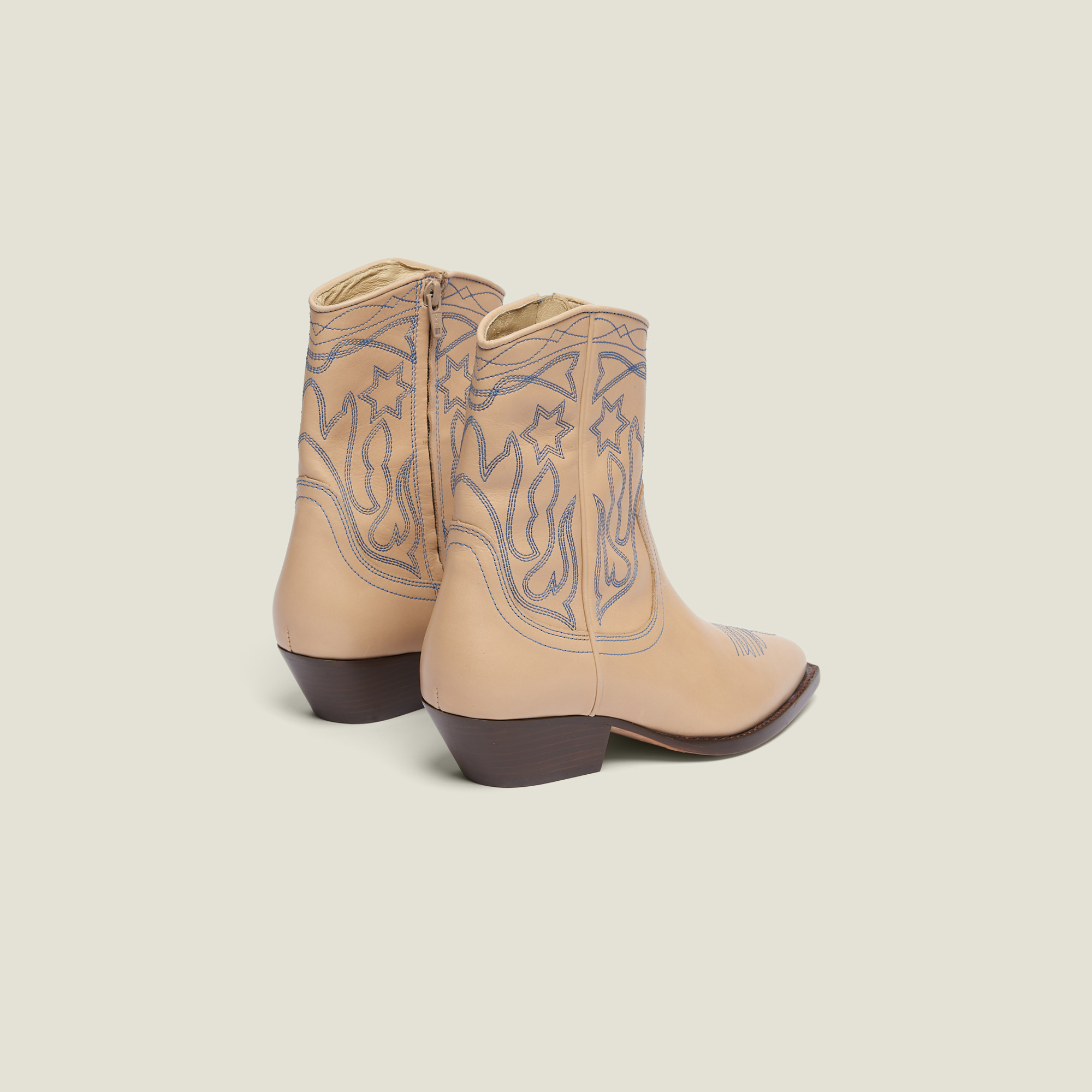 4f3b4fc836e Embroidered Leather Cowboy Boots