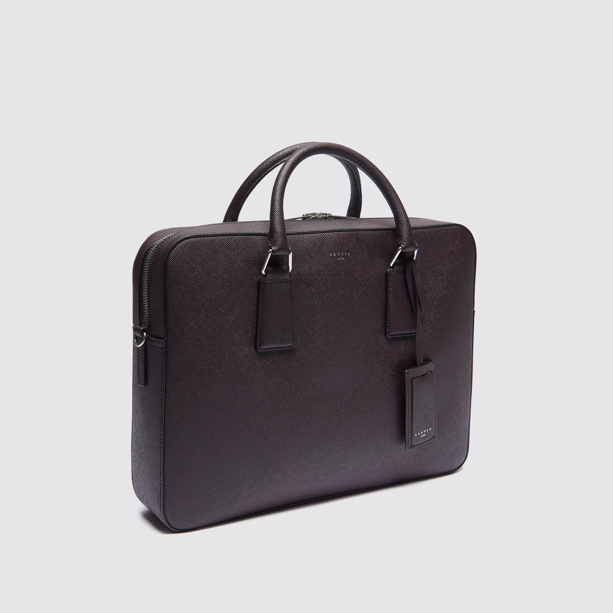 large saffiano leather briefcase bags sandro paris