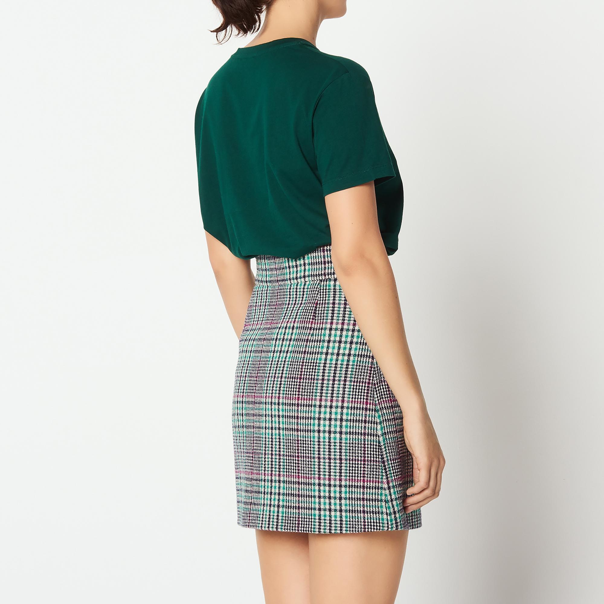 7b7b2a821 ... Short checked skirt : Skirts color Fuchsia - green ...