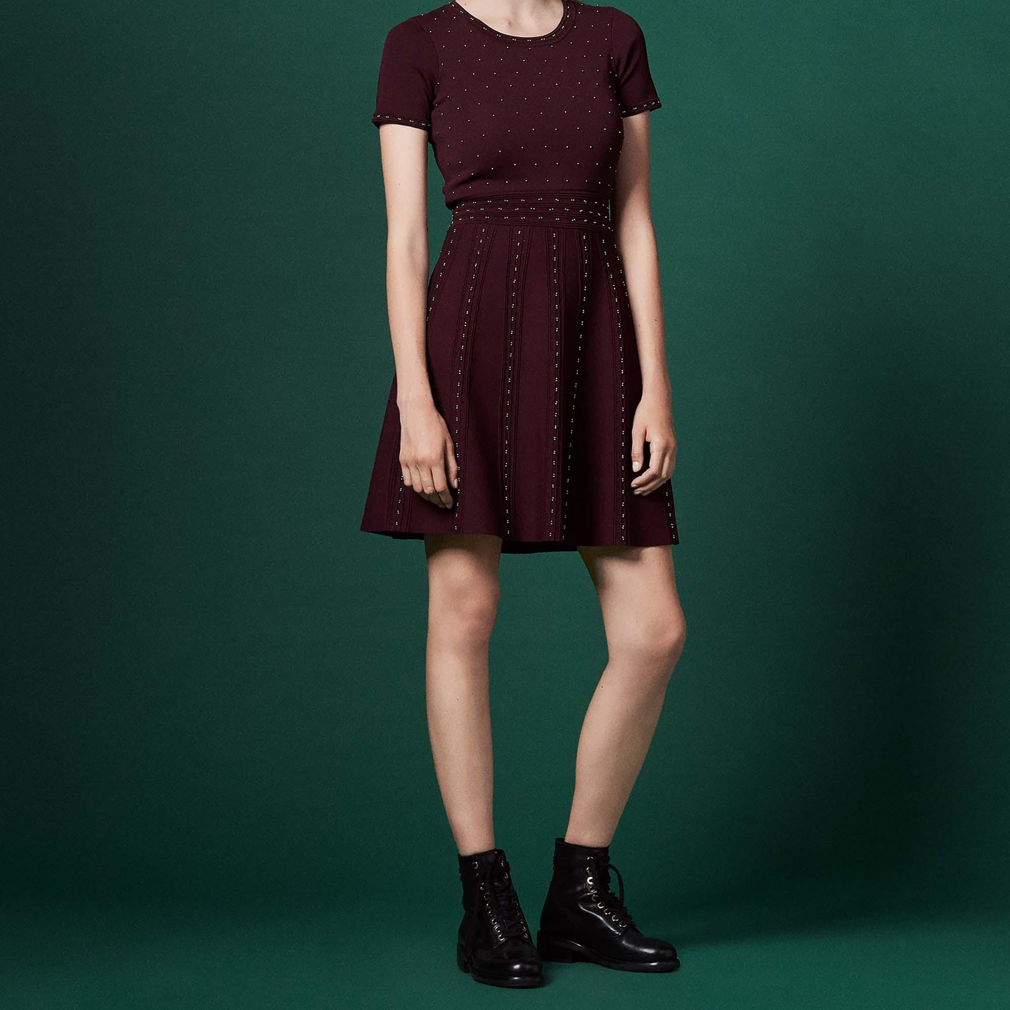 8dbf8e6b2ae Knitted dress : Dresses color Burgundy ...