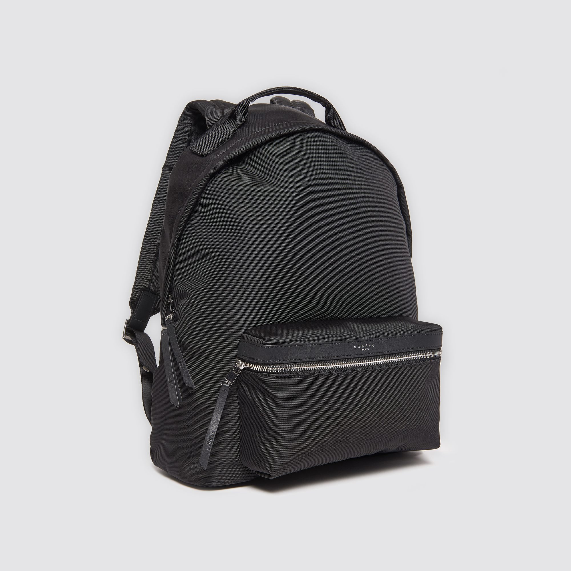 eb4651f3dc ... Technical backpack with leather details   Bags color Black ...