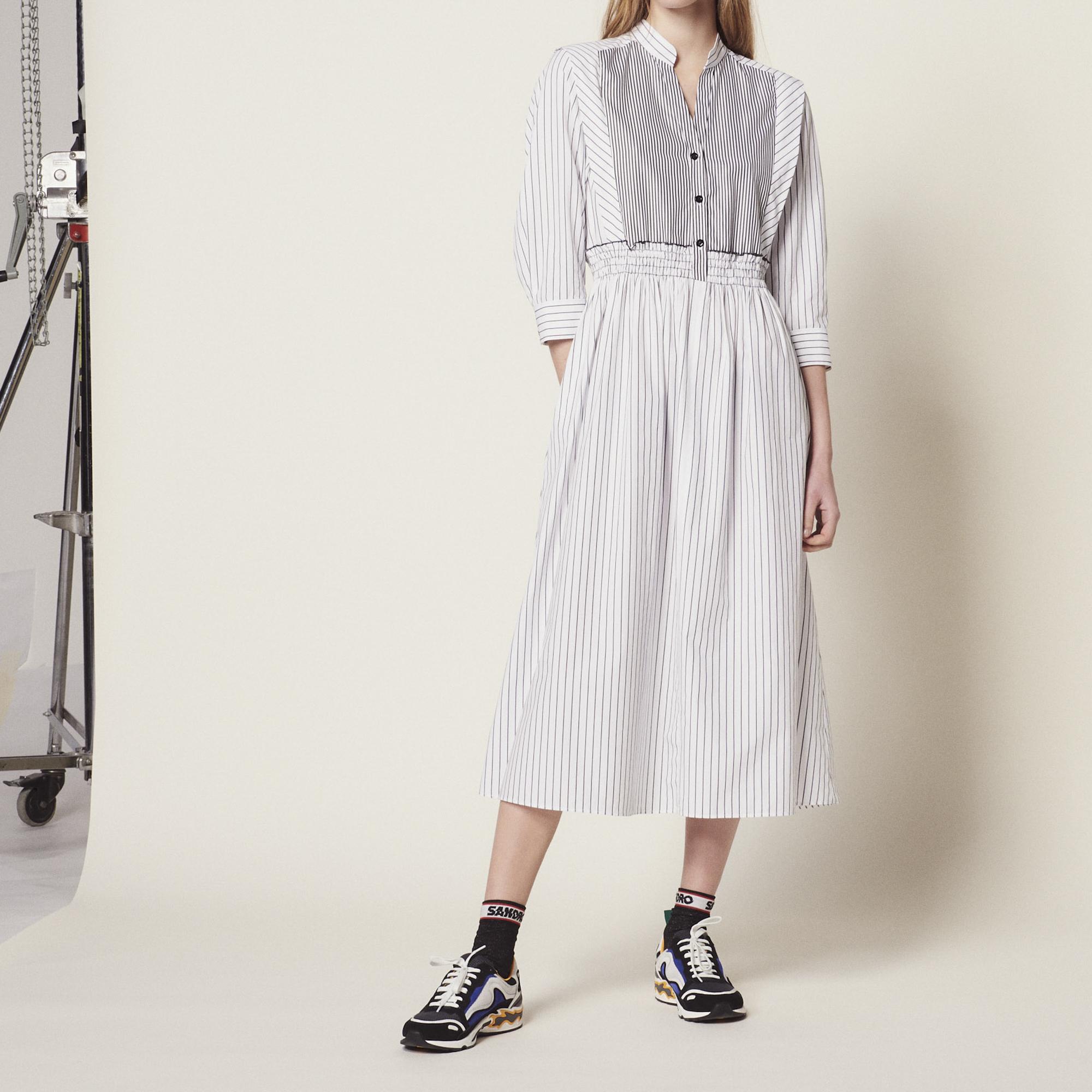 b26961870da37 Striped Cotton Midi Dress : Dresses color white ...