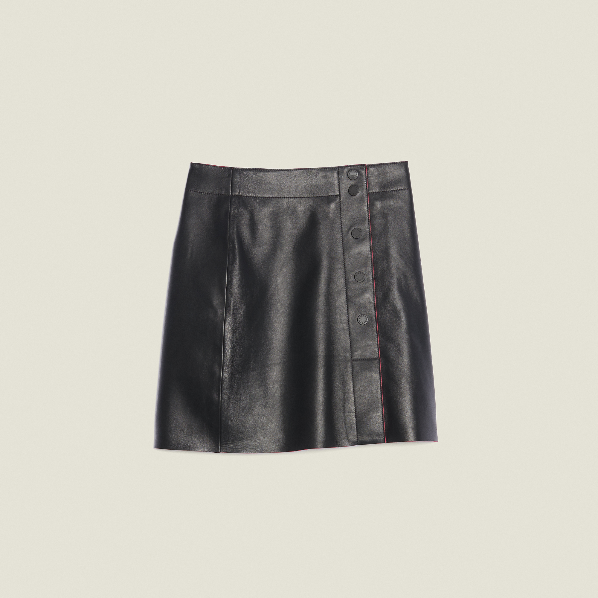 48f5e5db56 ... A-Line Leather Skirt : Skirts color Black