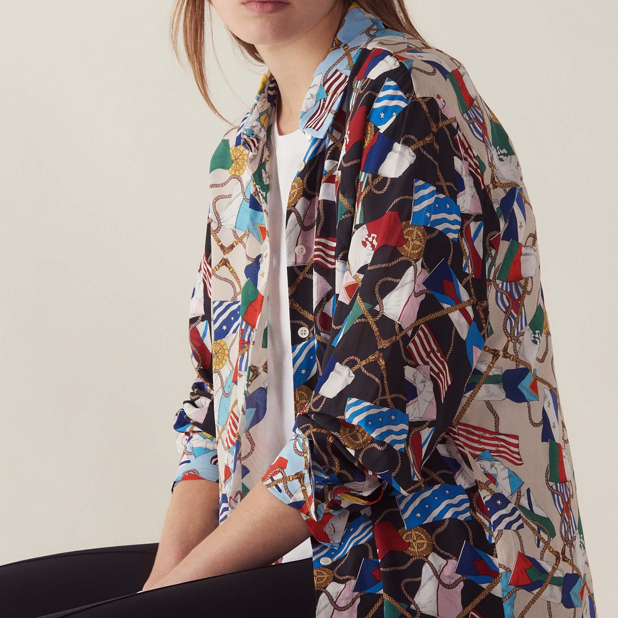 All Over Flag Print Shirt Tops Shirts Sandro Paris