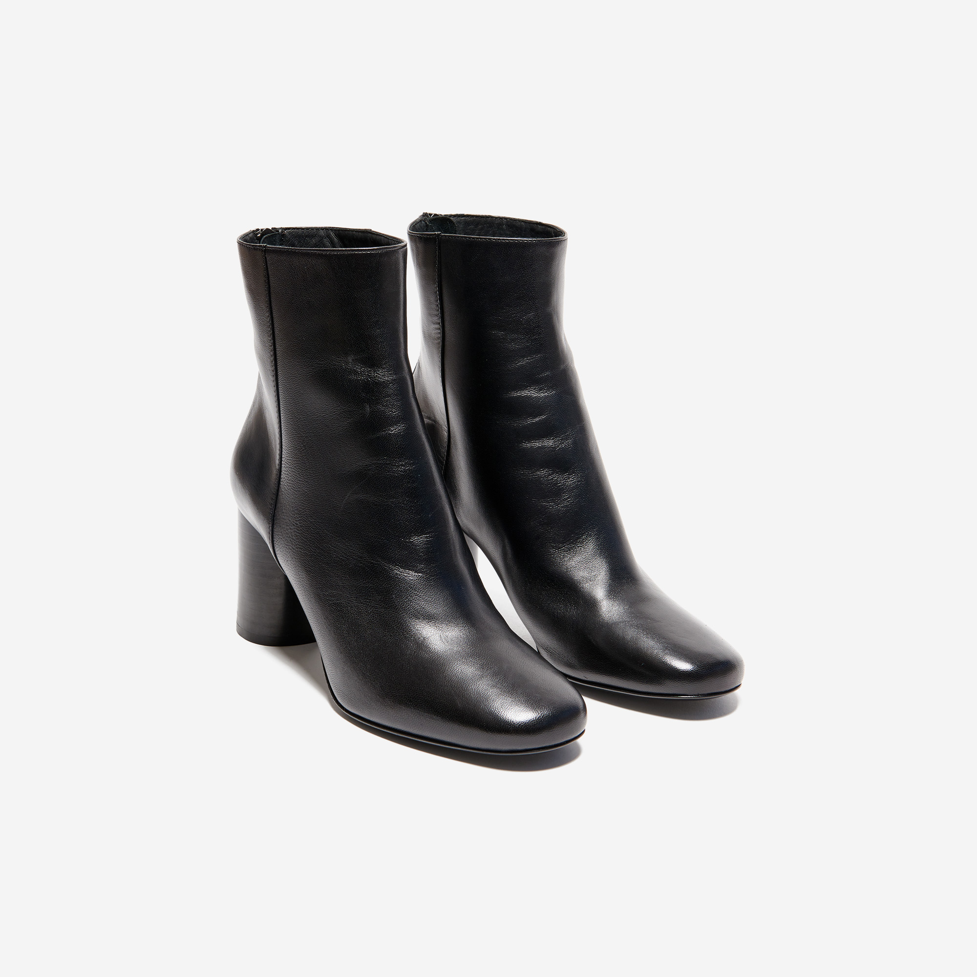 dde34bc48a82f ... Leather ankle boot   Shoes color Black ...