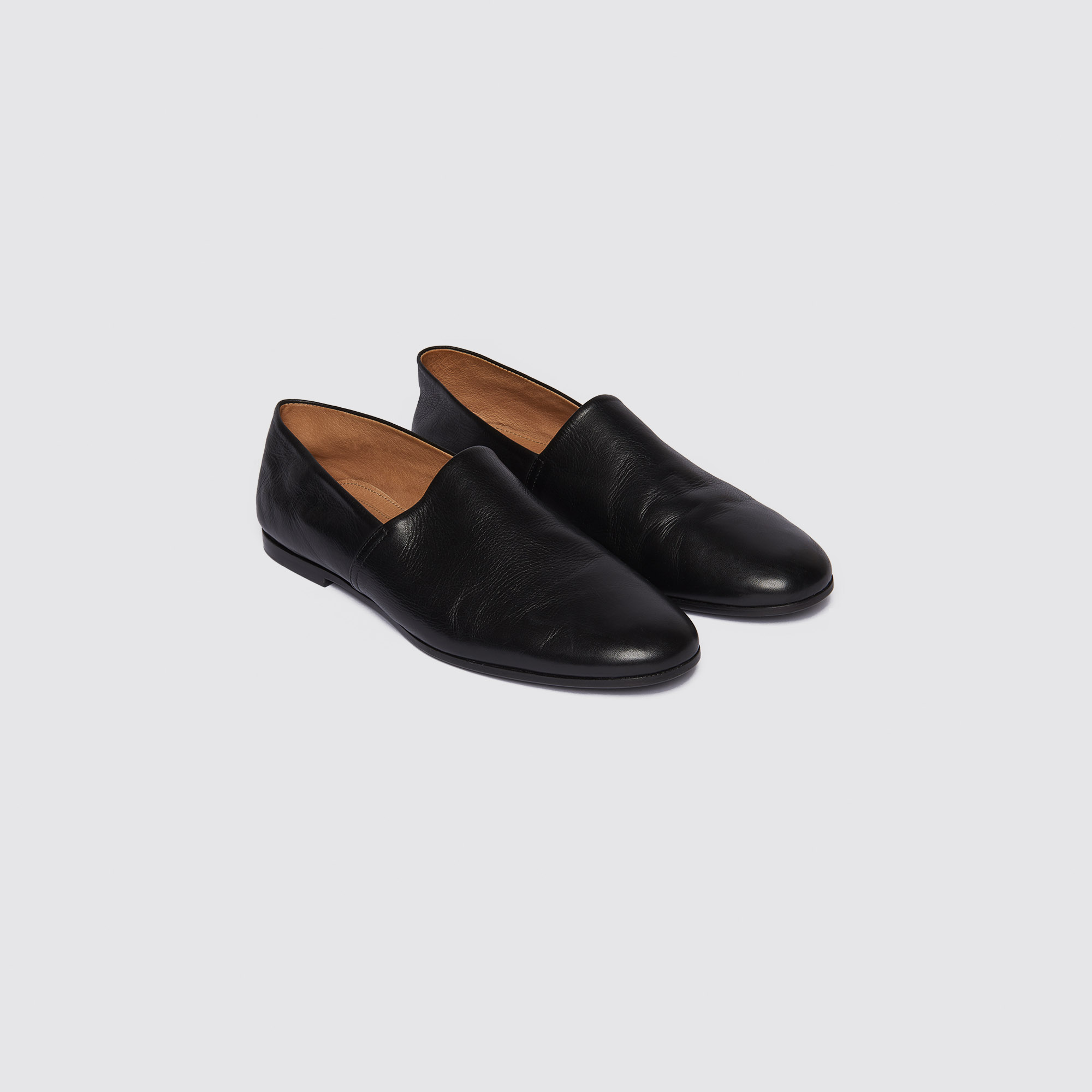 898b069e588 Smooth leather slippers
