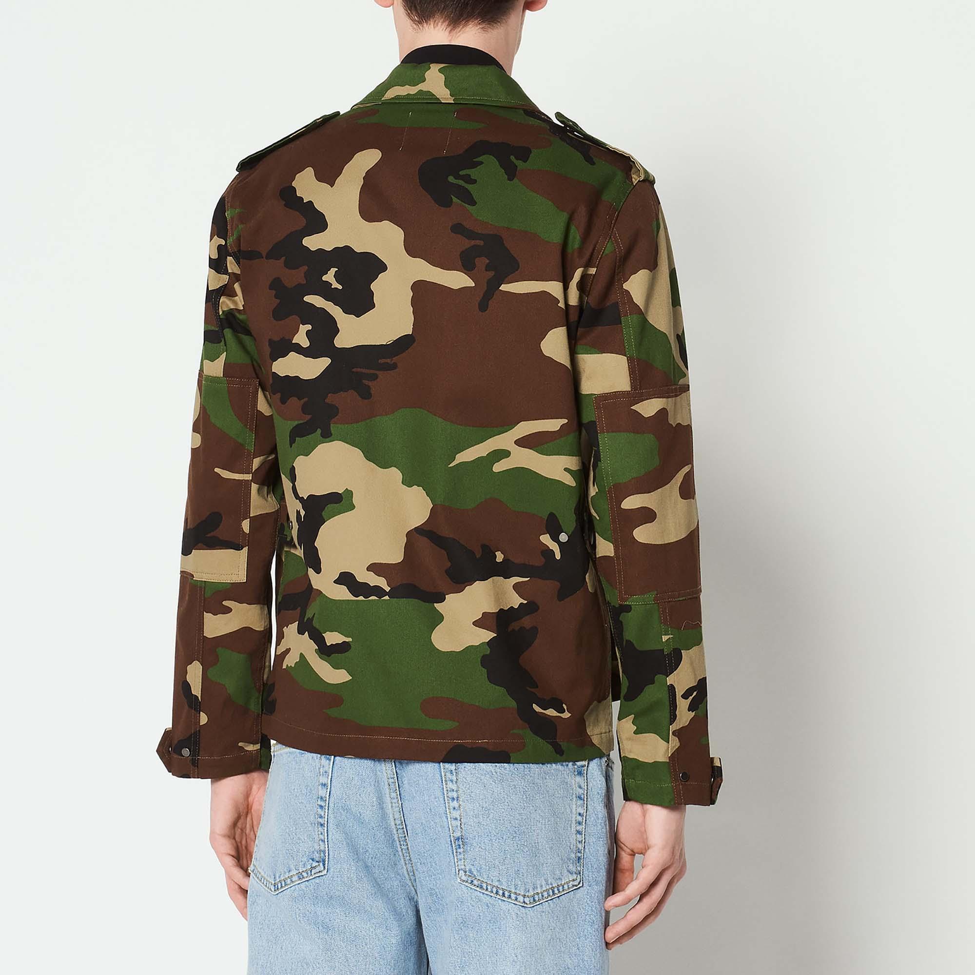 5da822d2 ... Camouflage print jacket : Coats & Jackets color Olive Green ...