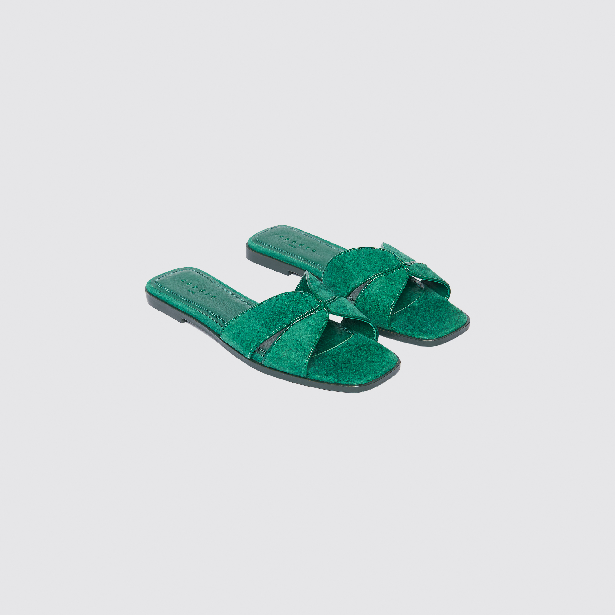 db52b45cb4db ... Flat leather crossover sandals. Back. Elly. Loading zoom · Elly.  Loading zoom · Elly