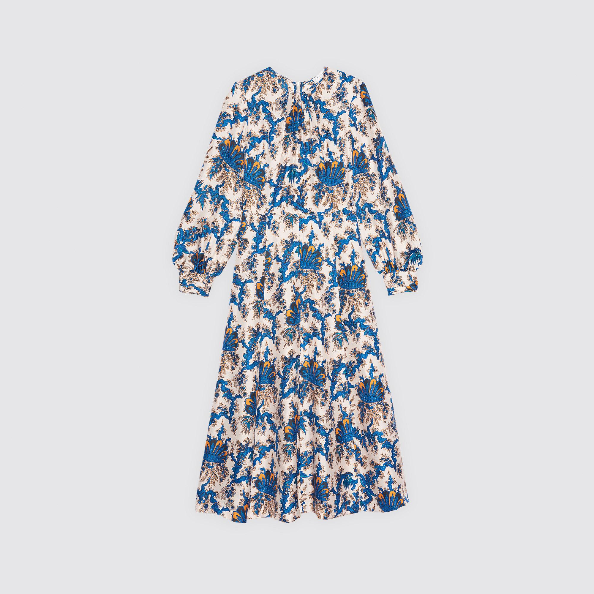 da7fb1b056ff ... All-over print long silk dress   Dresses color Multi-Color