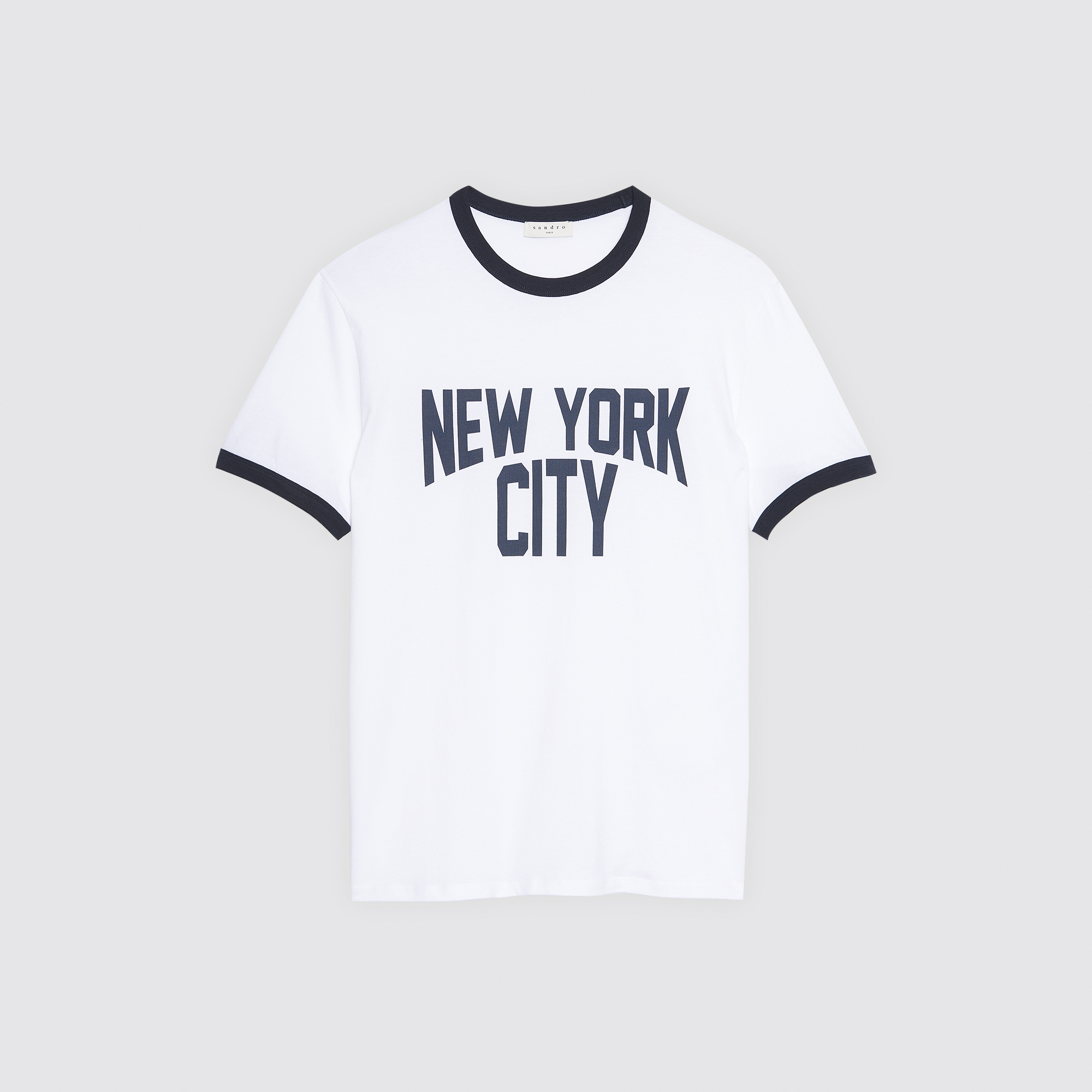 t shirt with new york city lettering t shirts polos color ecru