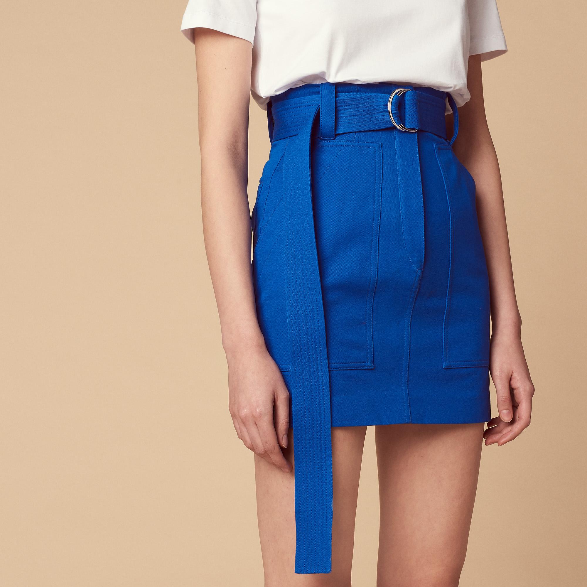 d2c75b3d6 Short skirt with belt : Skirts color Blue ...