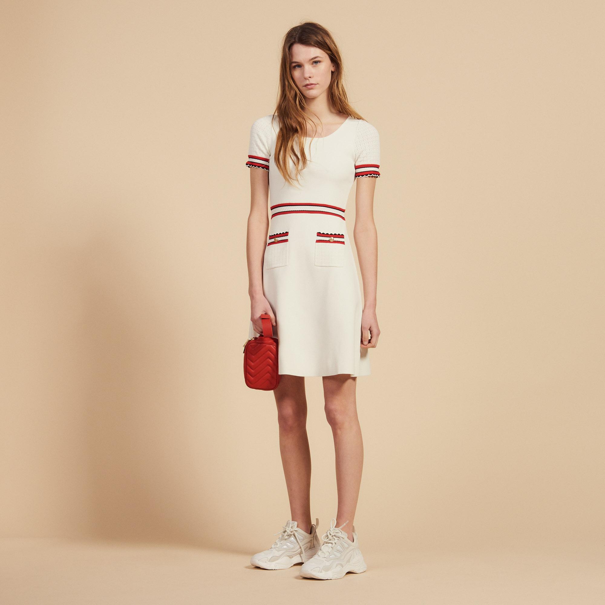 c0da3d19203 Knitted Dress : Dresses color Ecru ...