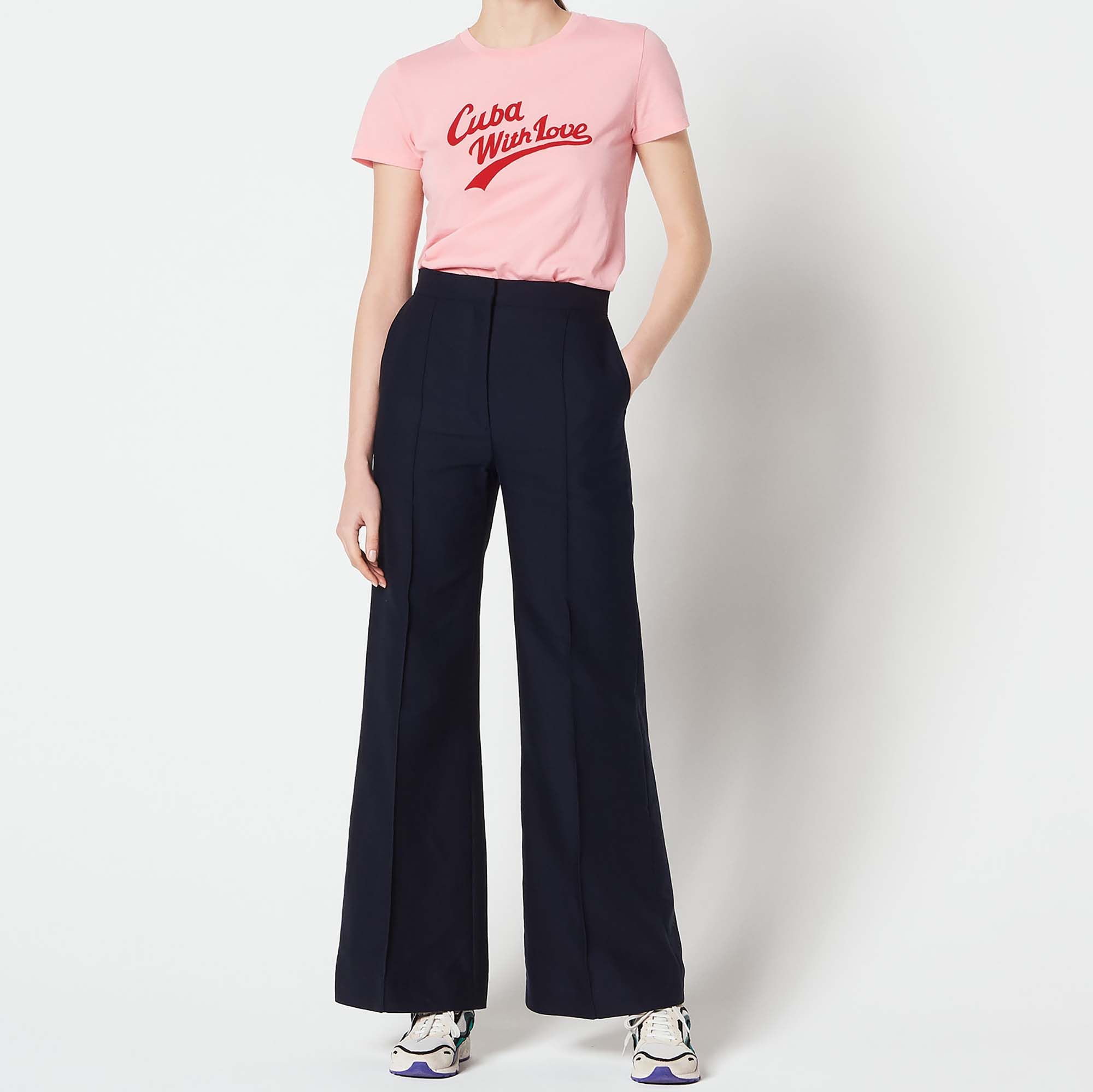 1d46f98f8c Flared trousers : Pants & Shorts color Navy ...
