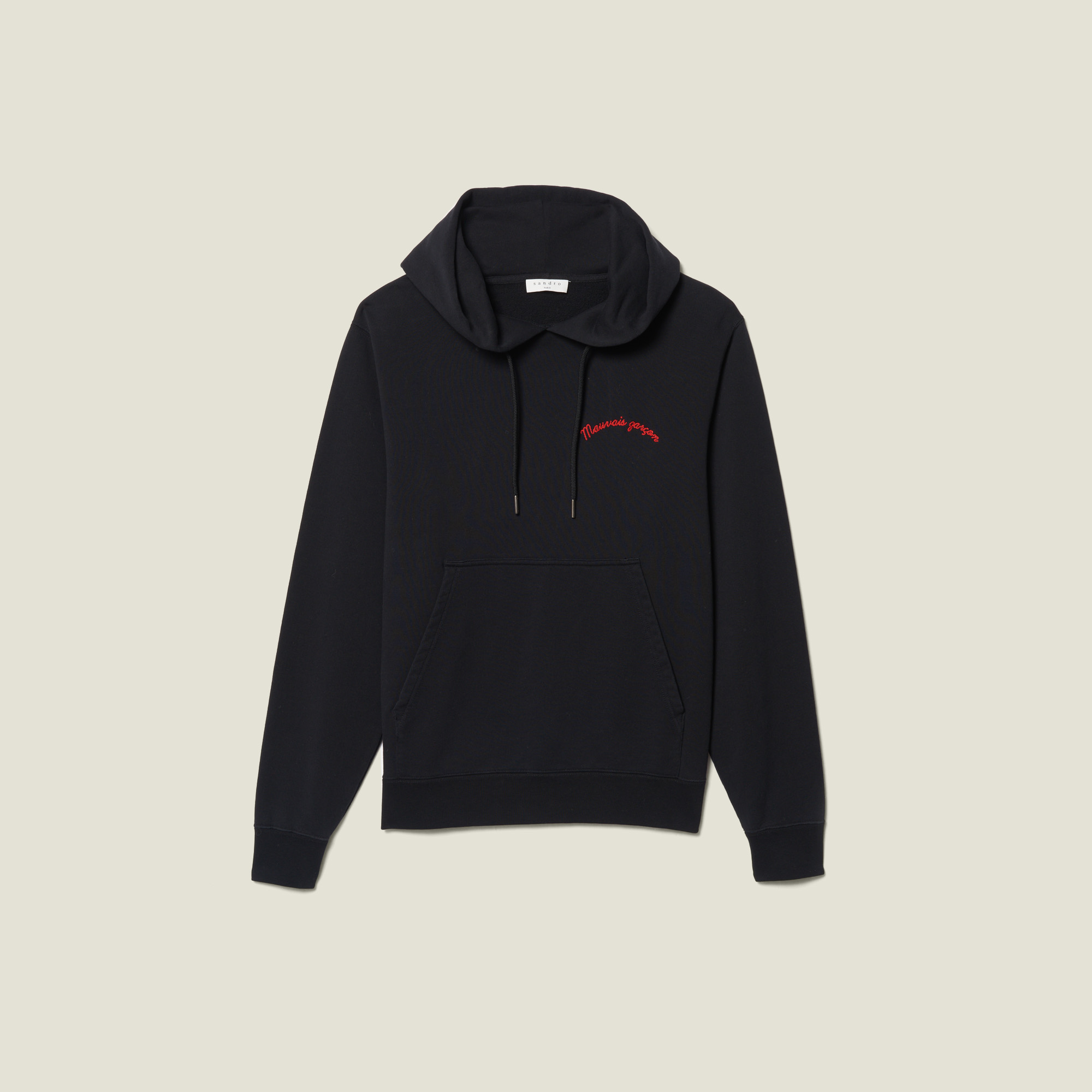 Hoodie With Lettering Embroidery