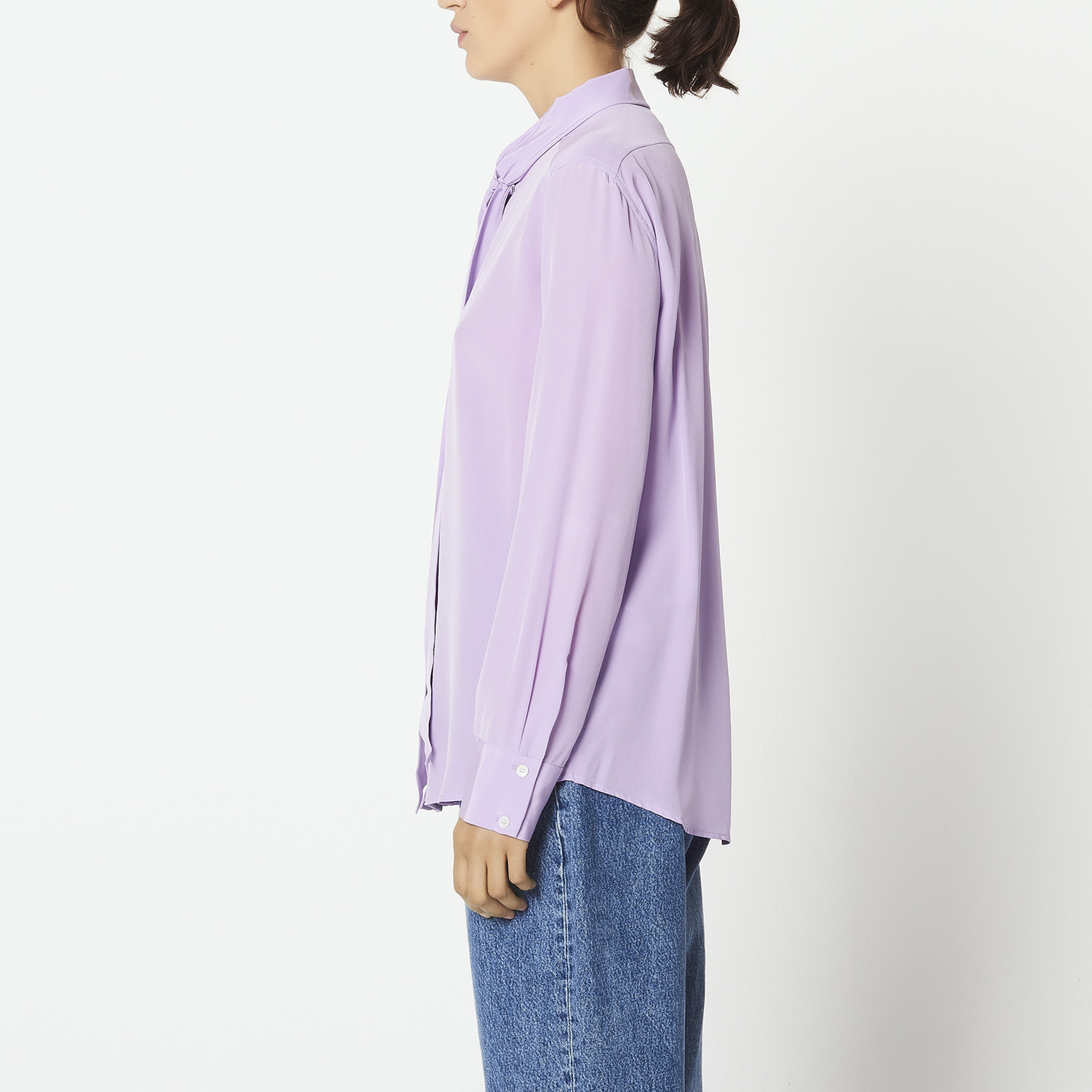 6dedefe7242cd9 ... silk shirt with bow   Tops   Shirts color Lilac ...